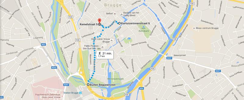 Brugge map