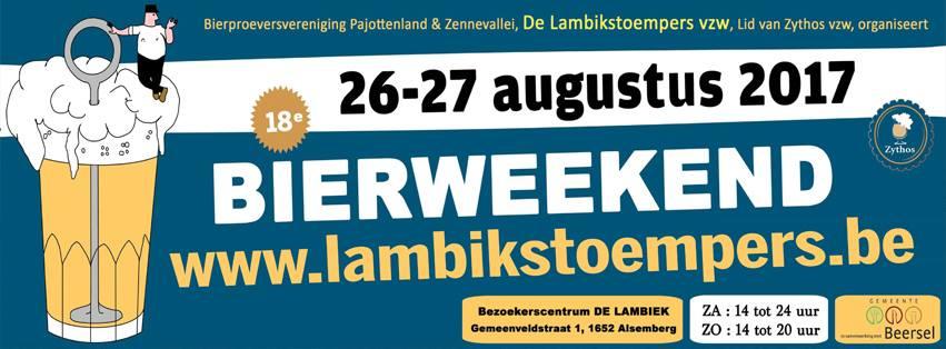 Lambikstoempers Bierweekend 2017 banner