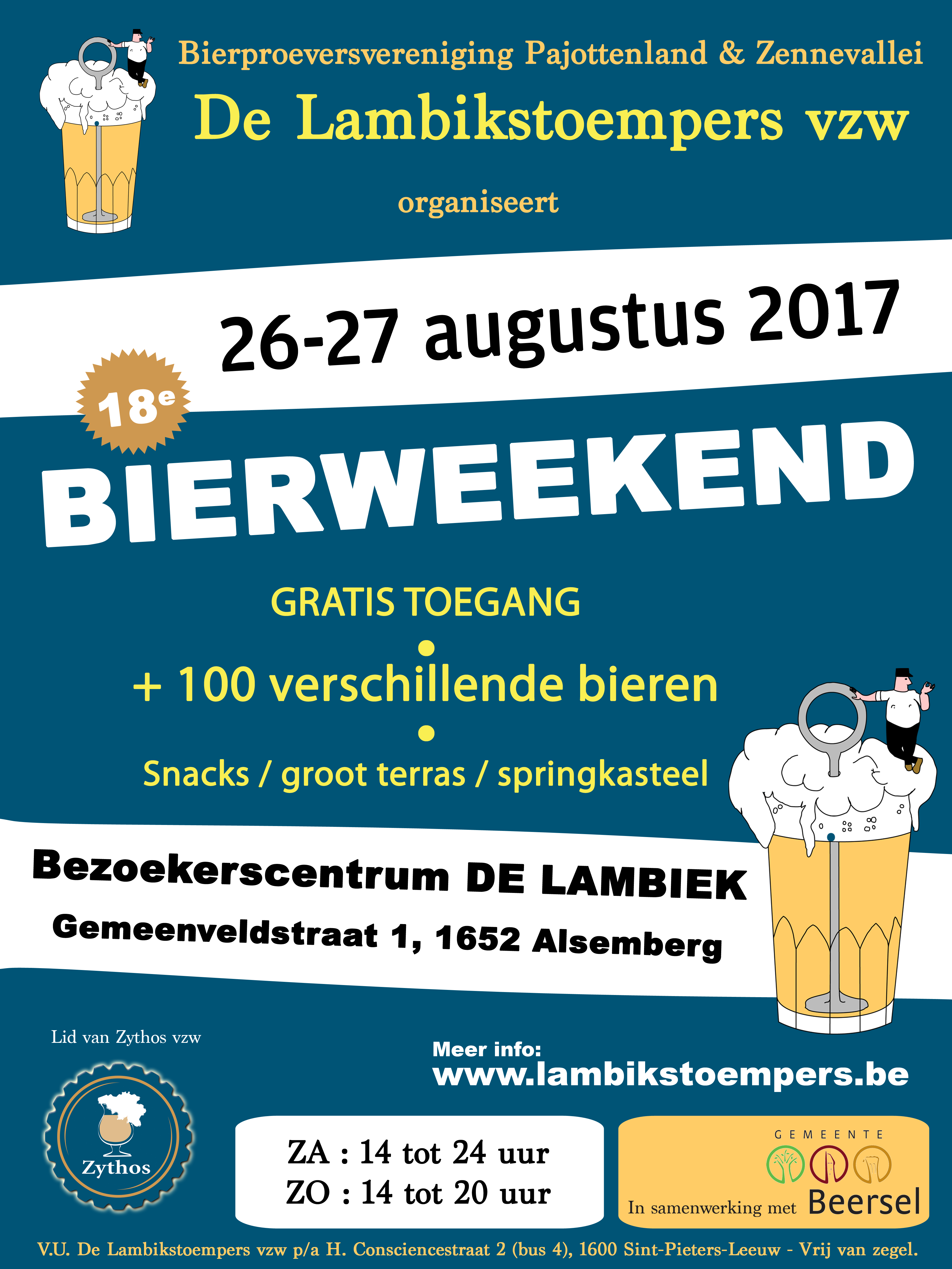 Lambikstoempers Bierweekend 2017 affiche