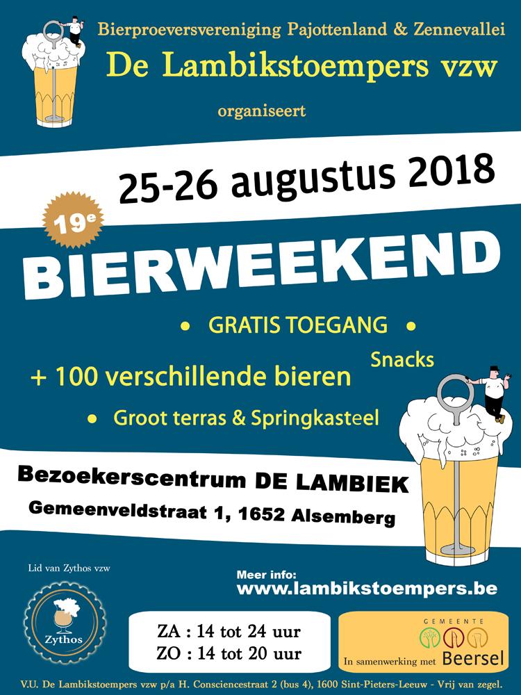 Lambikstoempers Bierweekend 2018 affiche