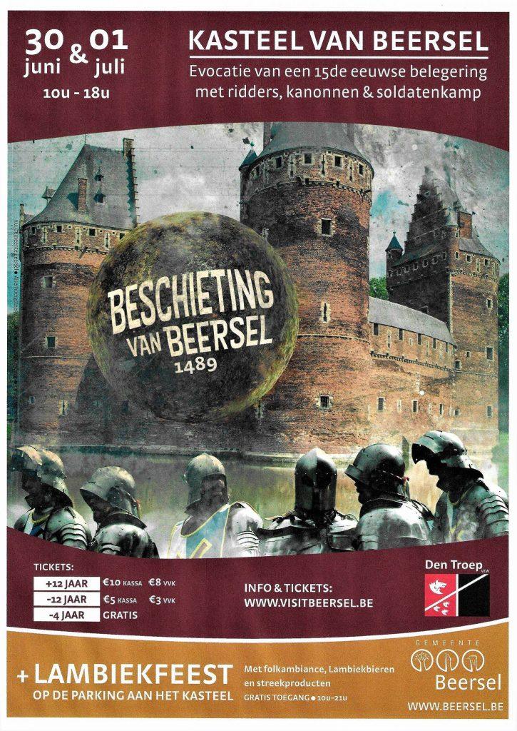 Beschieting van Kasteel Beersel affiche