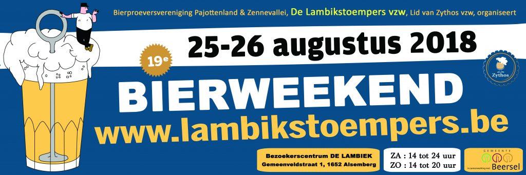 Bierweekend 2018 banner