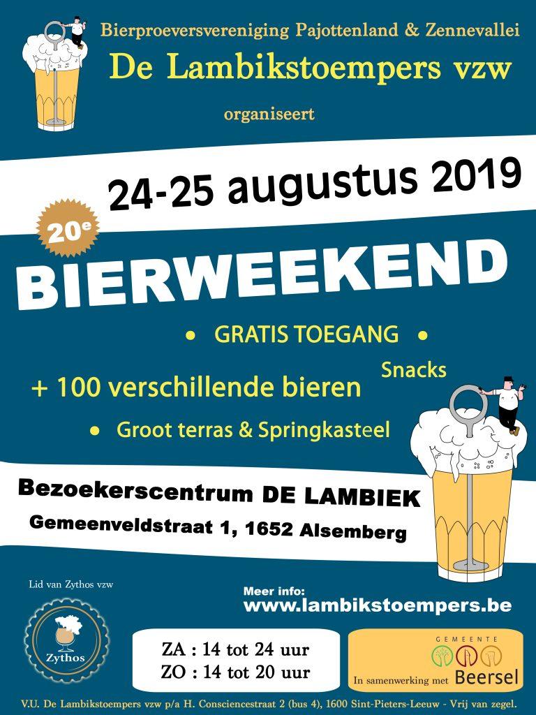 Lambikstoempers Bierweekend 2019 affiche