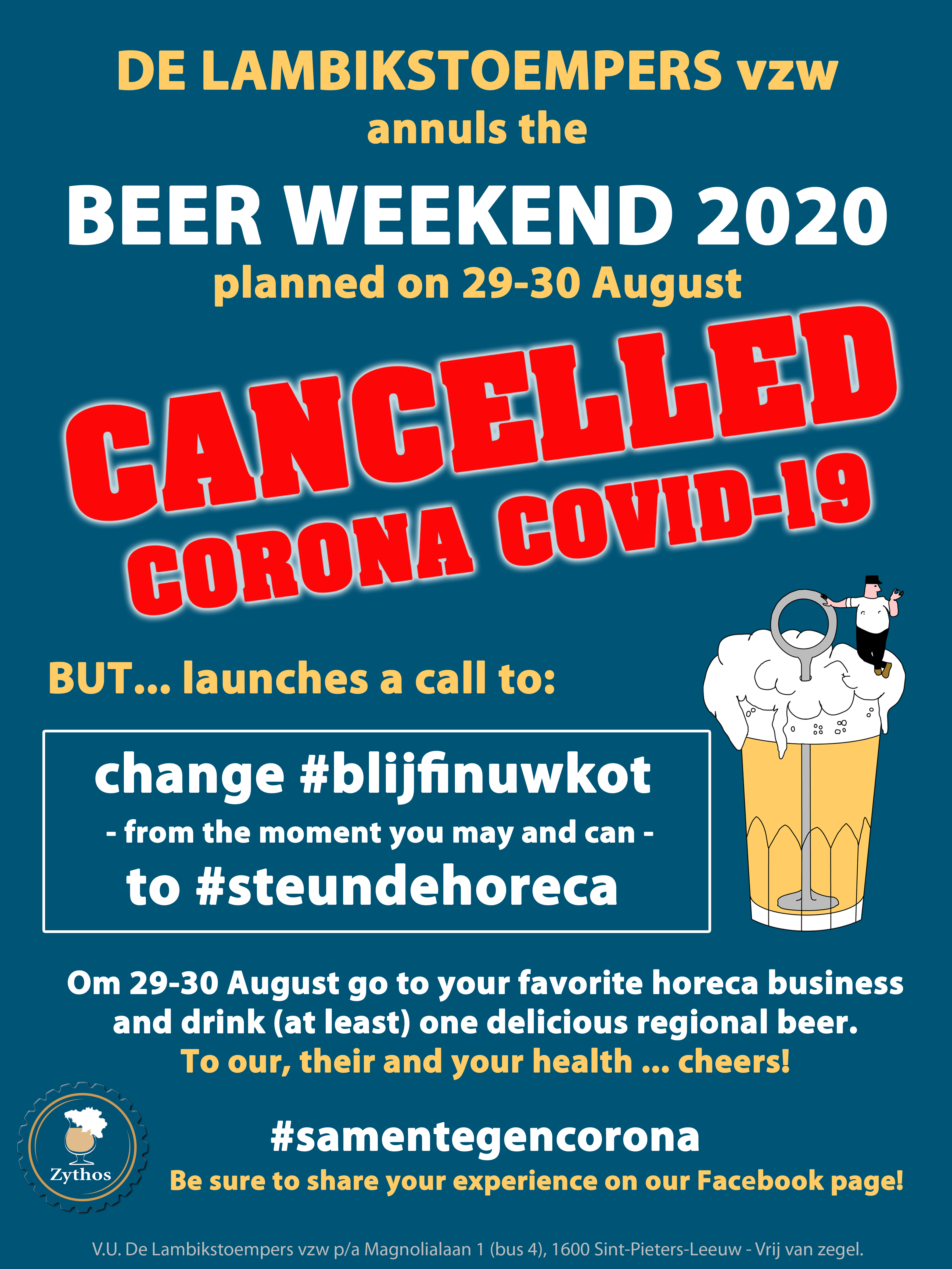 Lambikstoempers Beer Weekend 2020 cancelled