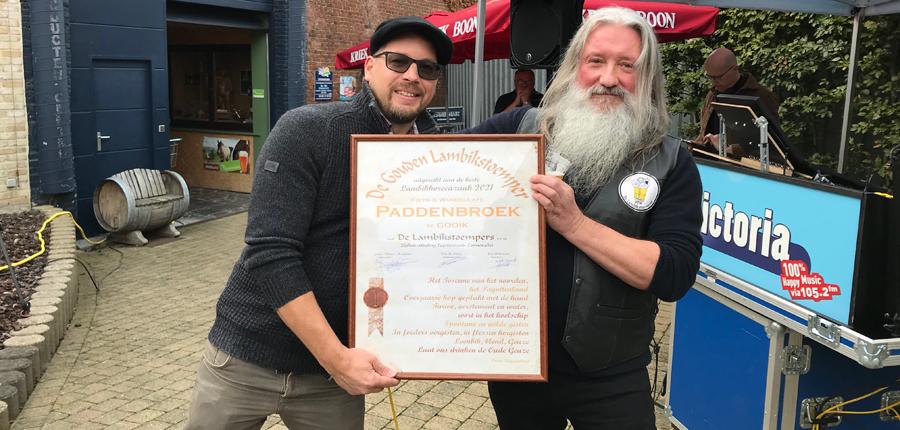 Paddenbroek Golden Lambikstoemper Award 2021
