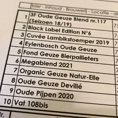 """Tasting """"New Old Gueuze"""""""